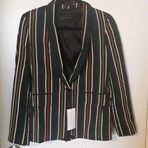 BNWT Zara multi coloured striped blazer